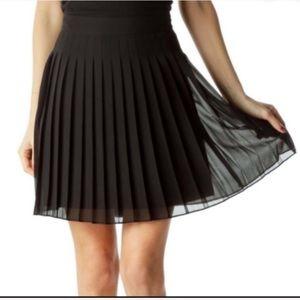 Loft Petite Black Accordion Pleated  Skirt Small
